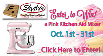 Enter to Win a Pink Kitchen Aid Mixer, Oct. 1st-31st, Click Here to Enter!